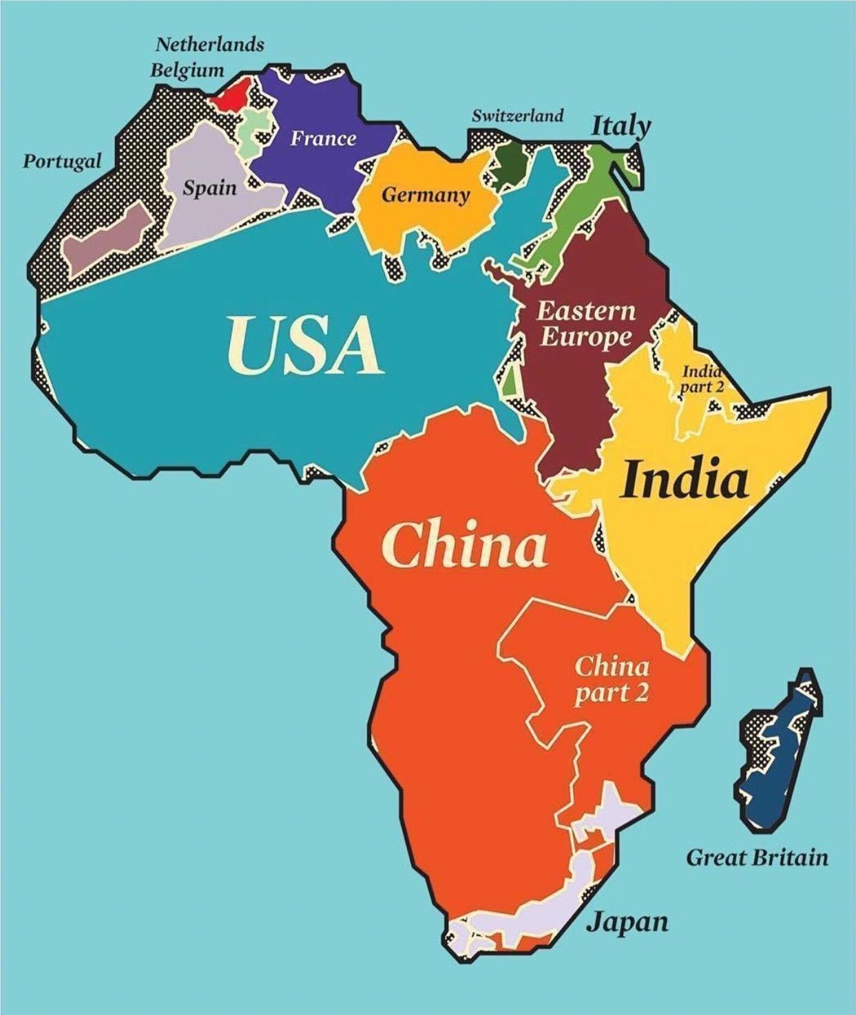 How Big Is Africa Map Ever wonder how big Africa is? Well Africa is huge, so huge in