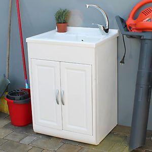 Lavandino Per Esterno In Plastica.Dettagli Su Lavatoio Interno O Esterno In Resina 45x50 Cm Con 1