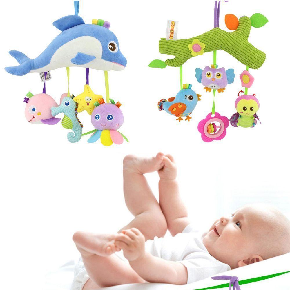 Car hanging toys  Activity Spiral Stroller Car Seat Travel Lathe Hanging Toys Baby