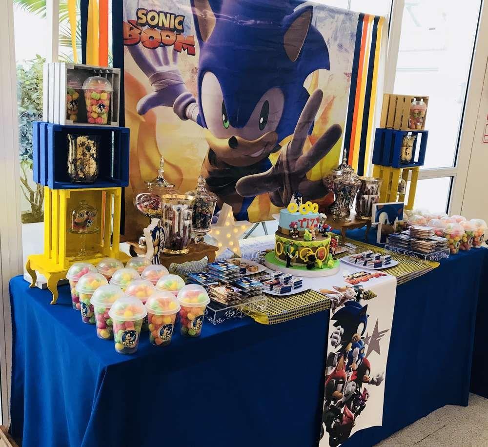 Sonic The Hedgehog Birthday Party Ideas Photo 7 Of 14 Sonic Party Sonic Birthday Parties Hedgehog Birthday