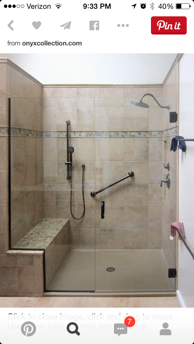 Shower seat too different tile | accessible home | Pinterest ...