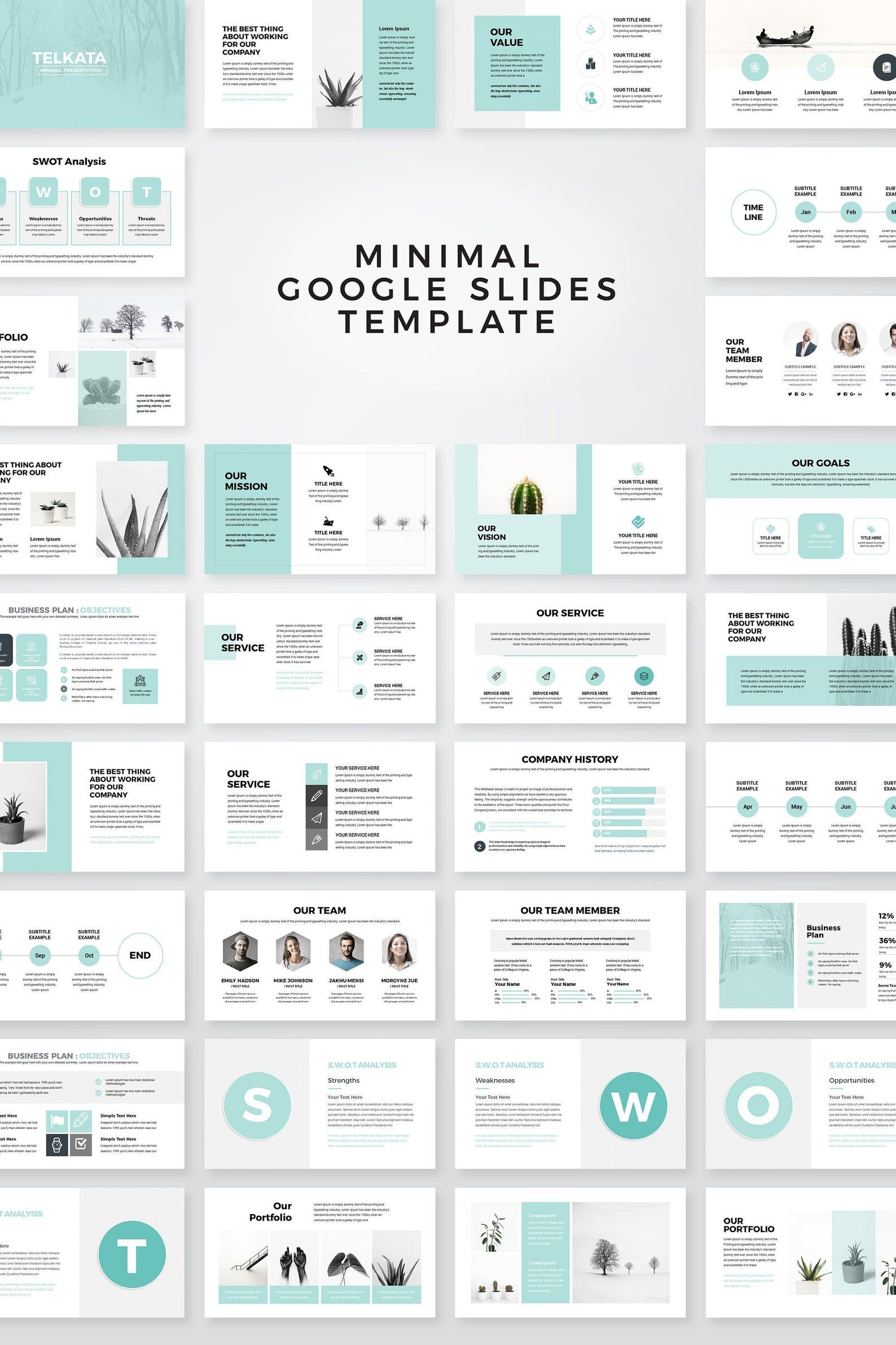 Modern Business Plan Google Slides Template, Edita