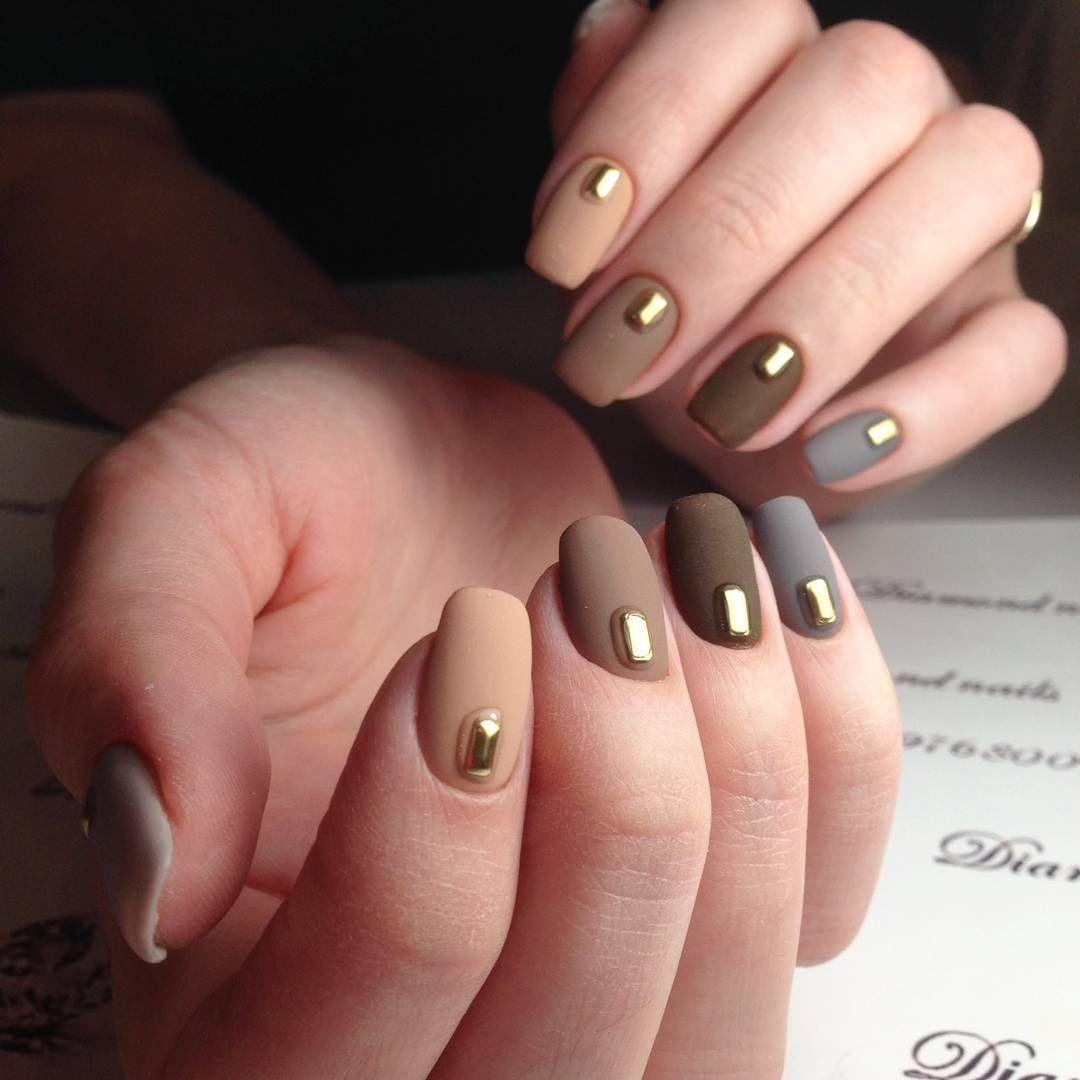 Autumn matte nail design | Nails | Pinterest | Matte nails and ...