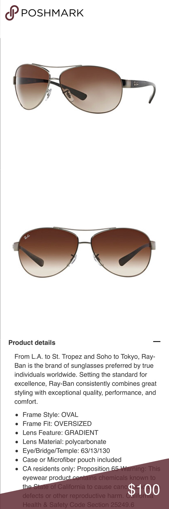 25d3cd36a9 Ray Ban Warrior RB3342 Impeccable condition Ray Bans. Purchased at  Nordstrom