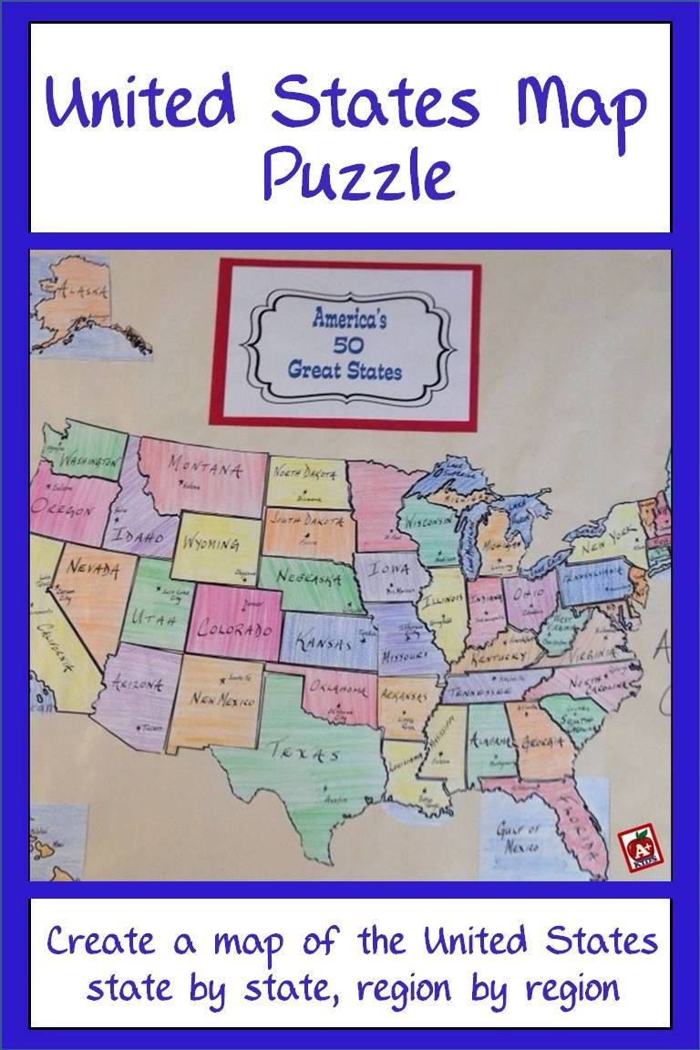 United States Map Puzzle States And Capitals United States Map - Interactive-us-map-puzzle
