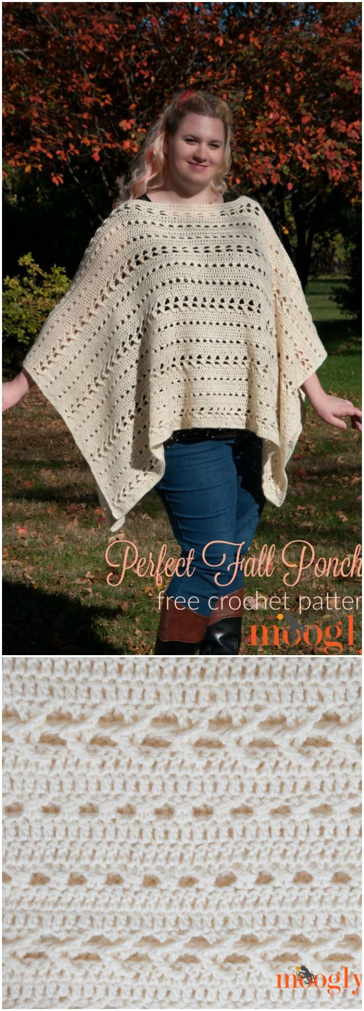 50 Free Crochet Poncho Patterns for All - Page 7 of 9 | Ponchos ...
