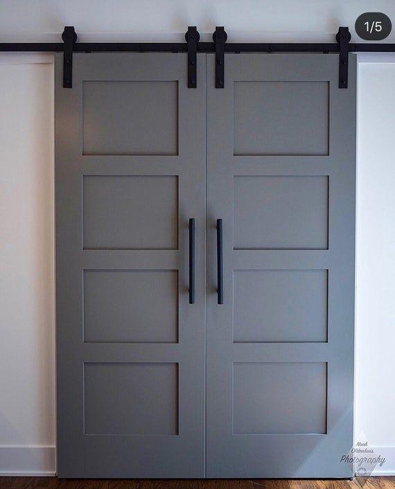 Custom Build Classic 4 Panel Sliding Barn Door Hinge Pocket Etsy Barn Door Hinges Barn Door Closet Diy Barn Door