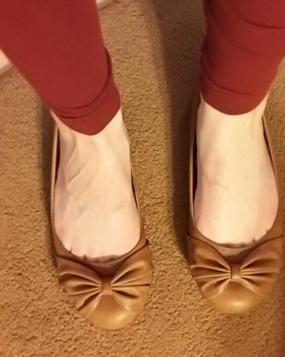Charlotte Russe Brown Bow Flats