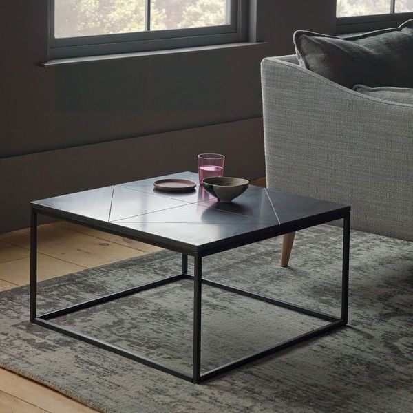 West Elm Etched Granite Side Table 250 Liked On Polyvore Featuring Home Furniture Tables Accent End