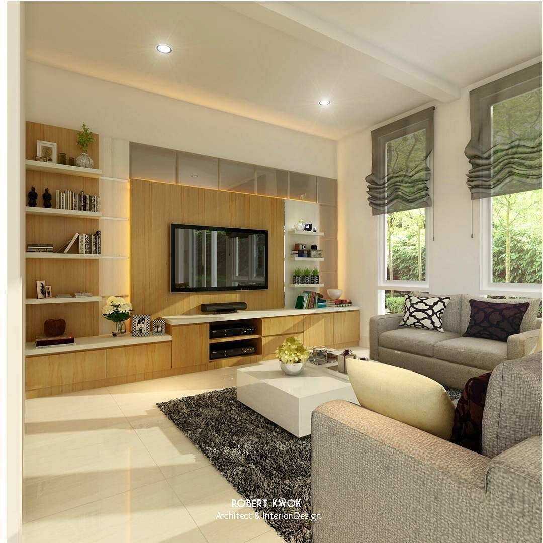 Living Room HN House at Evergreen Citraland Pekanbaru Design