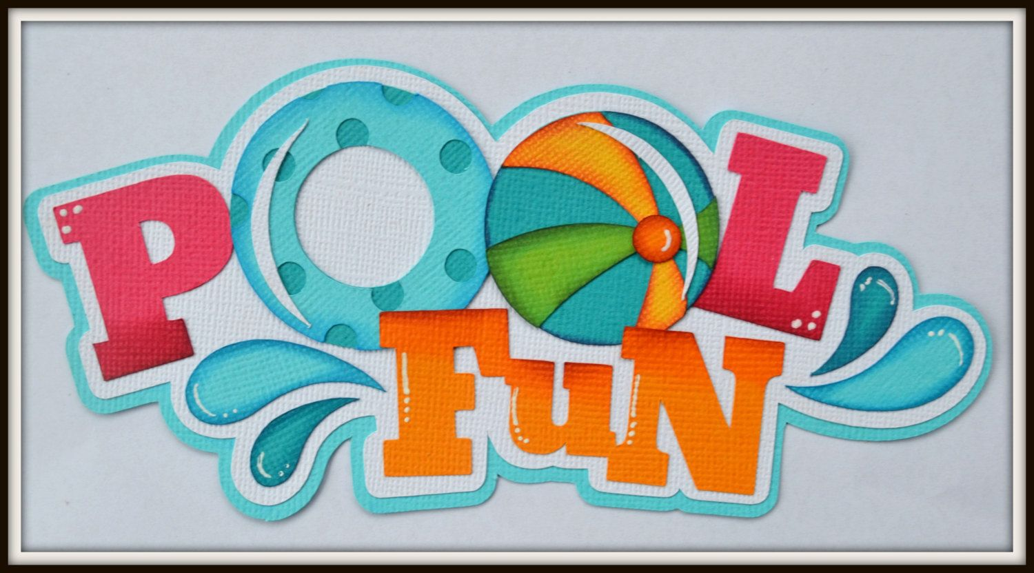 Pool Layouts premade scrapbook title pool fun for premade scrapbook pages