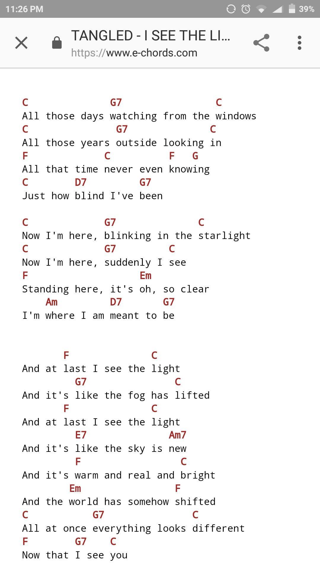I See The Light Ukulele Chords : light, ukulele, chords, Tangled, Ukulele, Chords, Songs,, Songs, Beginner