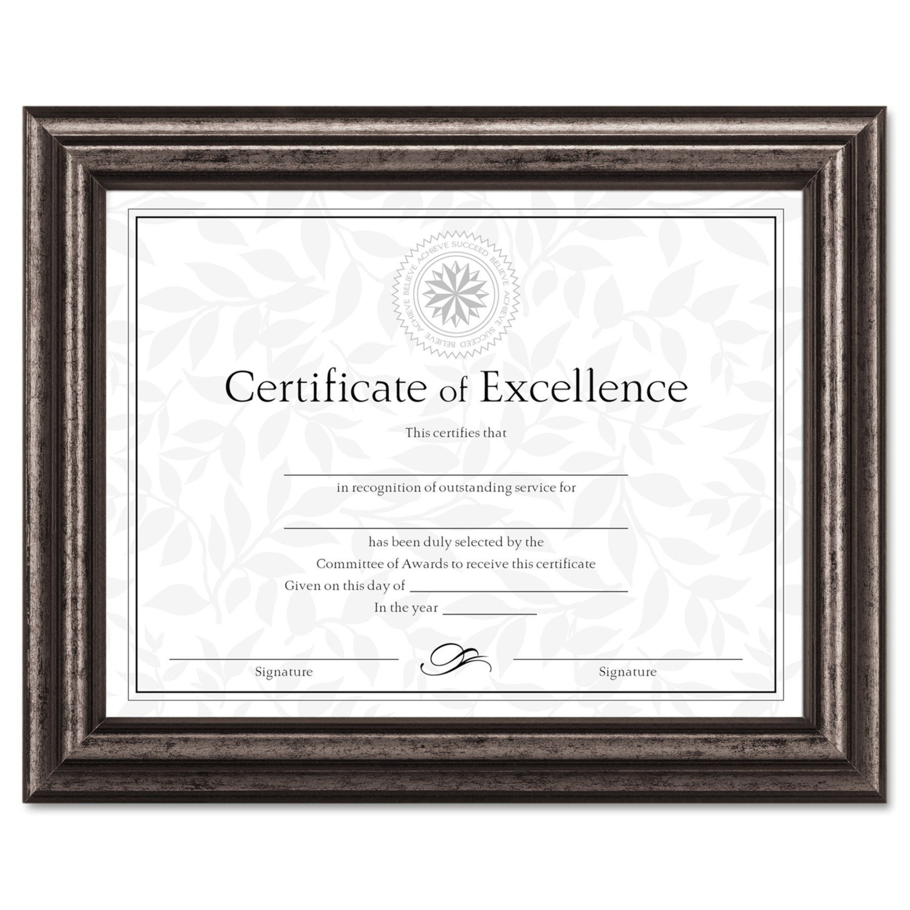 DAX 8.5 x 11 in. Antique Charcoal Document Frame - DAXN15790NT ...