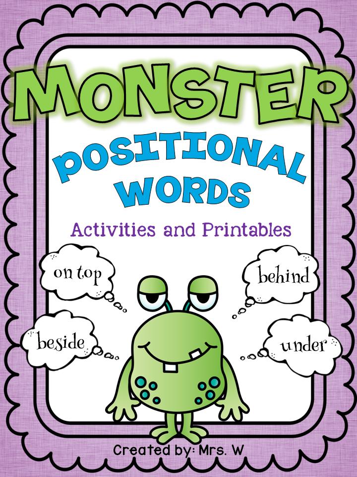 positional words freebie slp syntax words kindergarten math