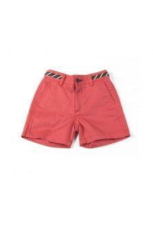 Kid´s Plain Red Bermuda Shorts