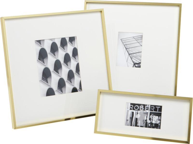 Gallery brass picture frames | Table aluminium, Desks and Display