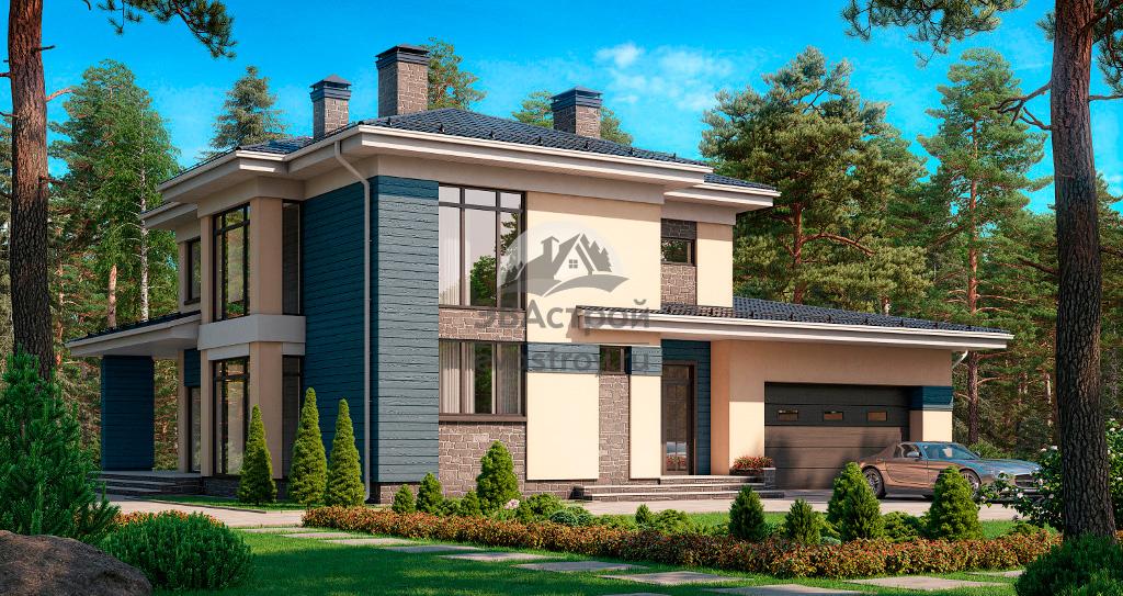 Проект дома в стиле Райта с гаражом и террасой до 200 кв м ...