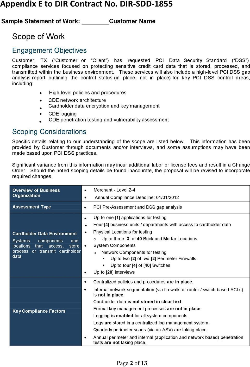 Sample Statement Of Work Pdf Free Download Pertaining To Pci Dss Gap Analysis Report Template Best Sample Statement Of Work Report Template Best Templates