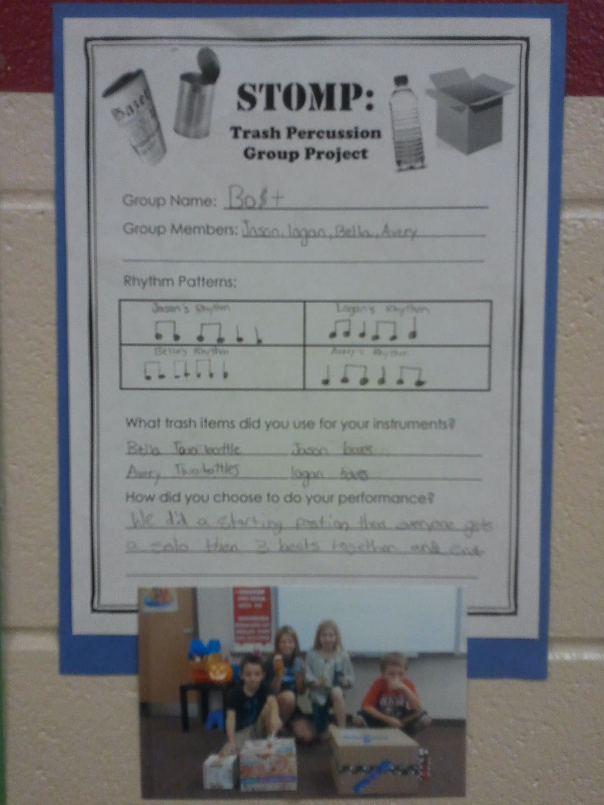 Stomp Lesson Plan Elementary Music 4th 5th Grade