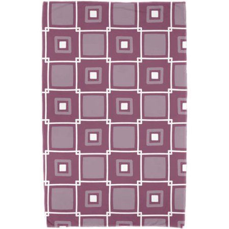 Simply Daisy 30 inch x 60 inch Square Pop Geometric Print Beach Towel, Purple
