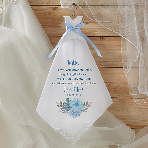 Bride S New Blue Personalized Wedding Handkerchief Wedding Handkerchief Personalized Wedding Groomsman Gifts
