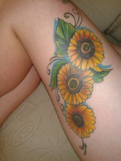 Sunflowers Tattoo Tatoo Tattoo Pierna Girasoles Y Tatuajes