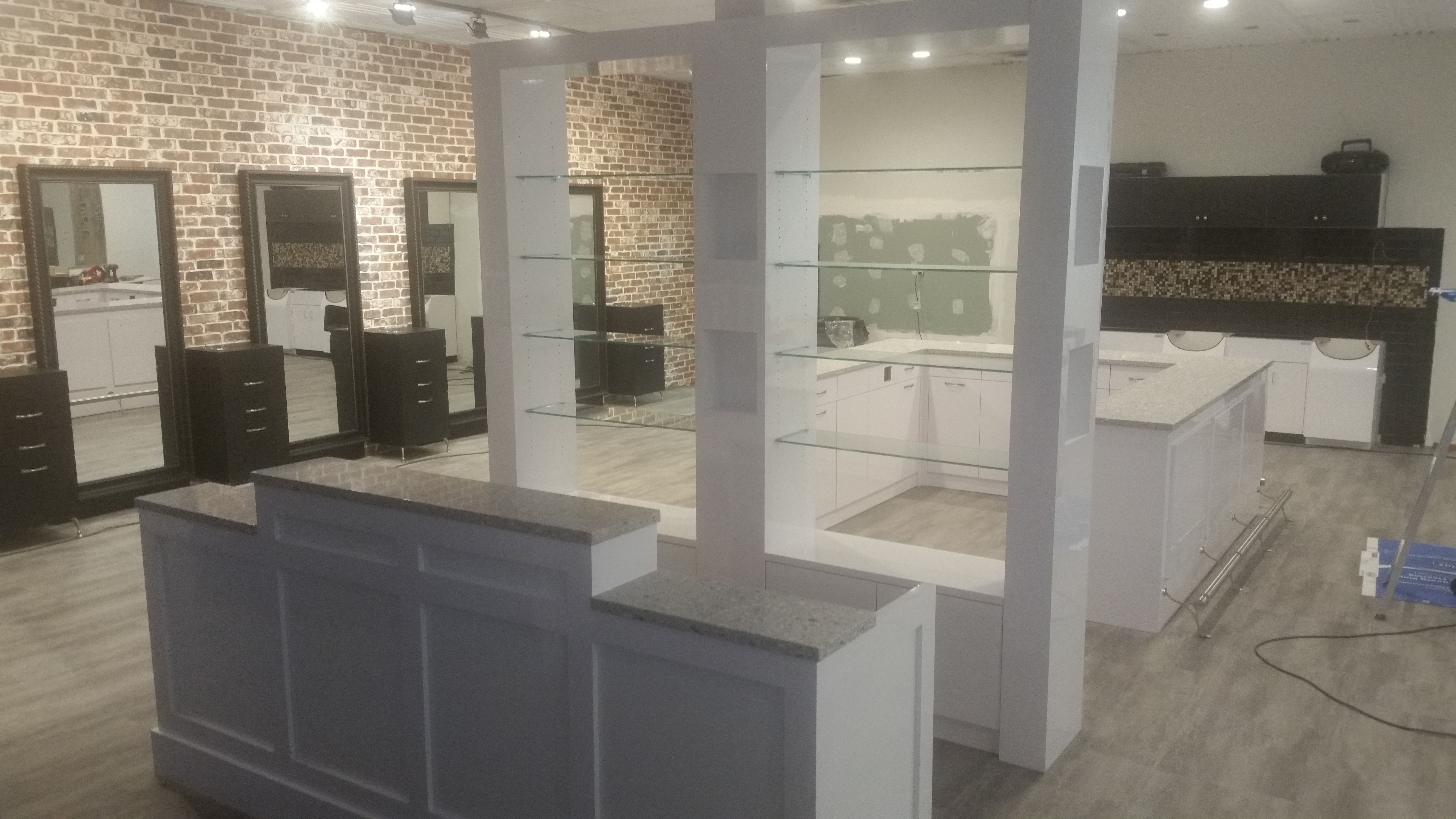 Swank Salon Freehold NJ All Eight Feet Wide For A Dramatic Center Of Space Dividing