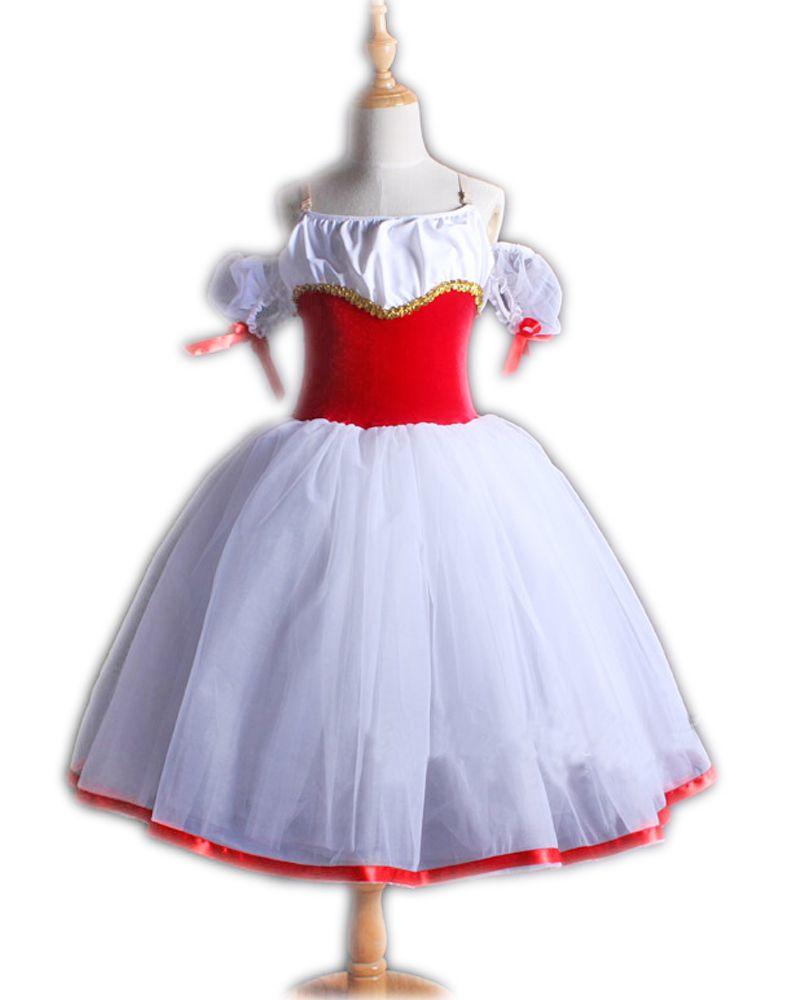 8ef89395fc56 New Children s Ballet Dress Teamed A Word Shoulder for Acrobatics ...
