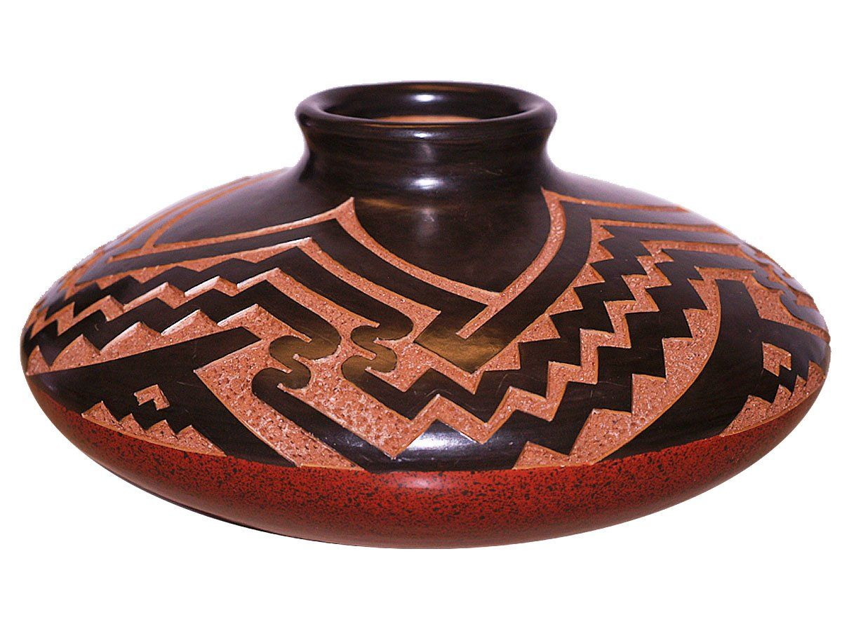 Aztec pottery mayan pottery aztec vases craft montaz for Clay pottery designs
