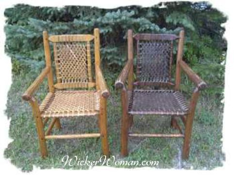 Rustic Reed Lattice Weave Seats Idea For Repairing Patio Chairs