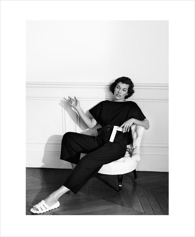 Milla Jovovich for The Edit by Net A Porter