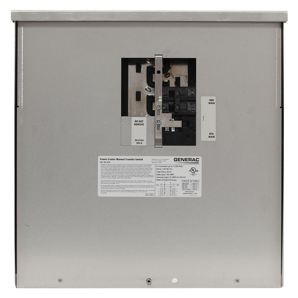 200 Amp 12 500 Watt Non Fuse Outdoor Manual Transfer Switch Transfer Switch Generator Transfer Switch Manual