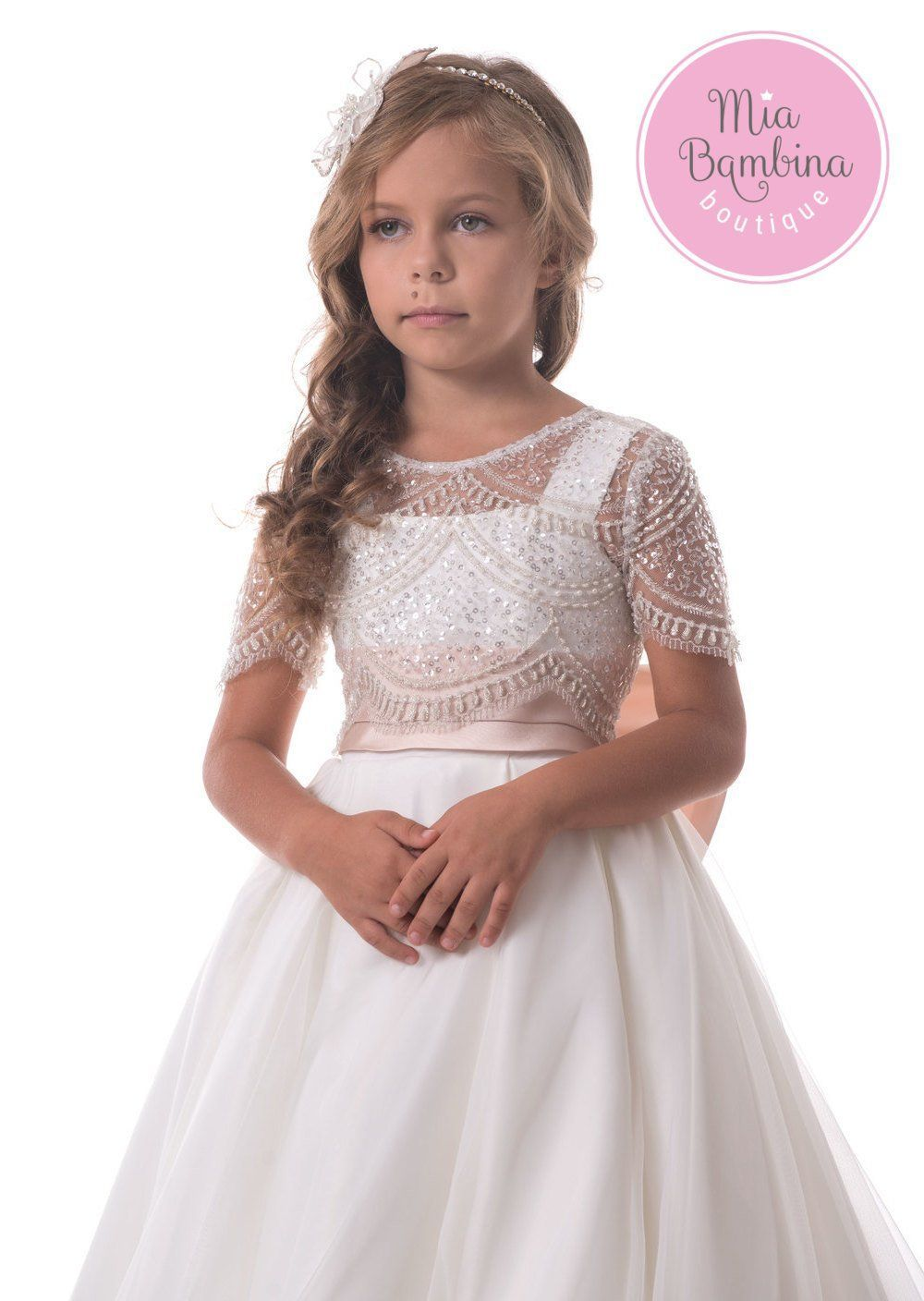 b8a0eee9da6 A beautiful princess dress for flower girls from 3 year to 14 years old. The