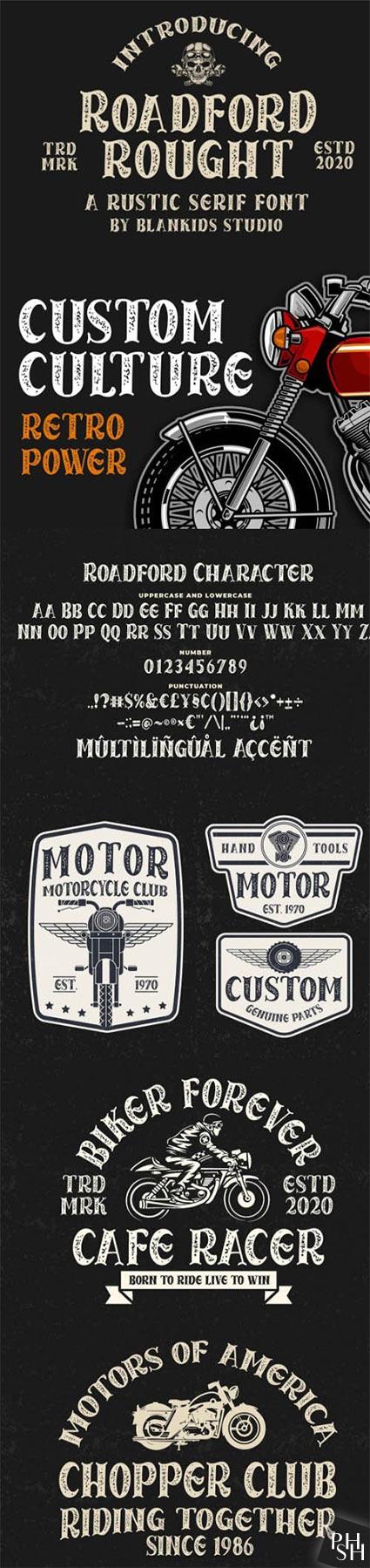 Roadford Rought - Rustic Serif Font - Шрифты - Скачать ...
