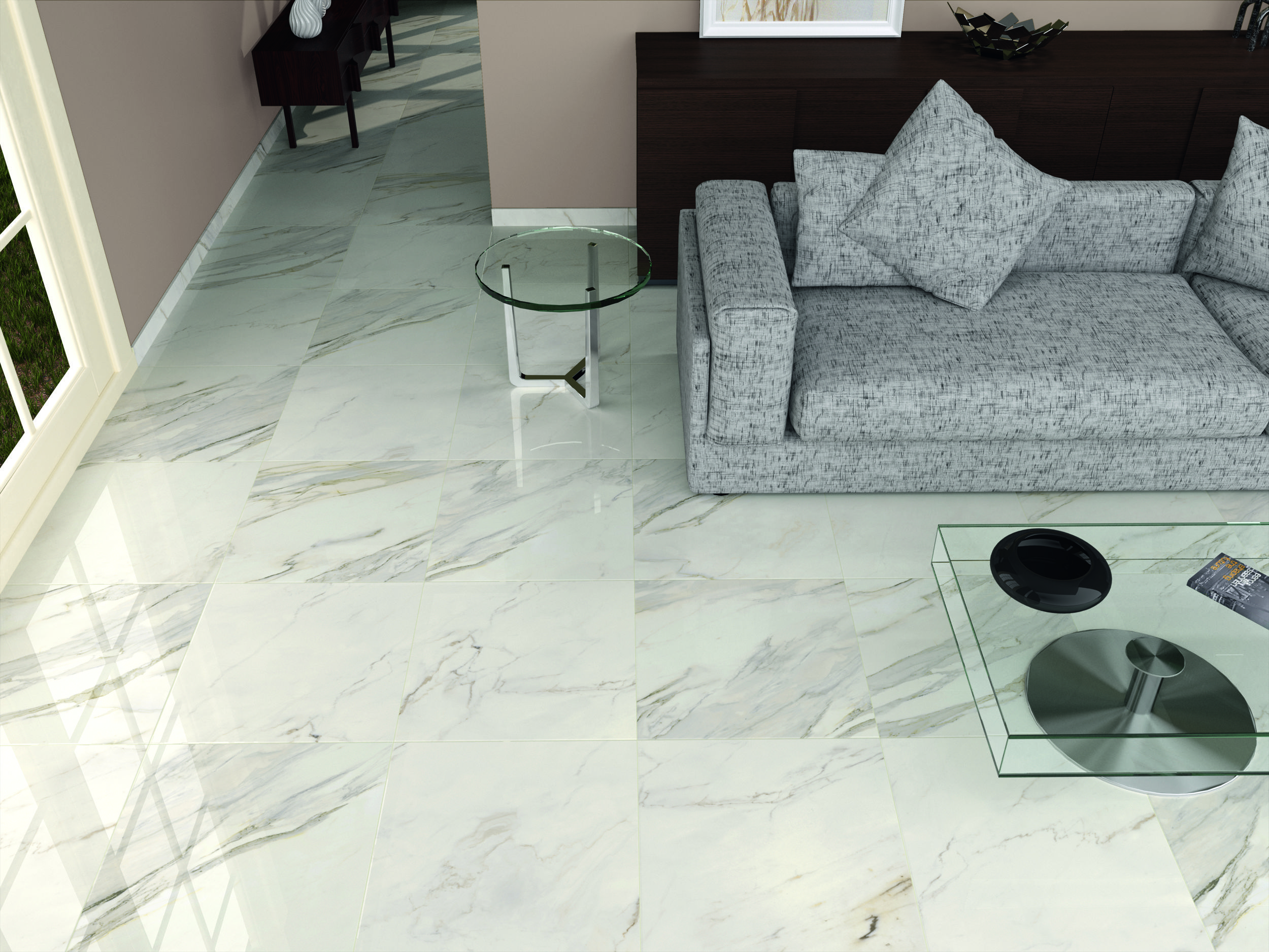 High gloss whitegrey floor tiles living room tiles tile depot high gloss whitegrey floor tiles dailygadgetfo Gallery