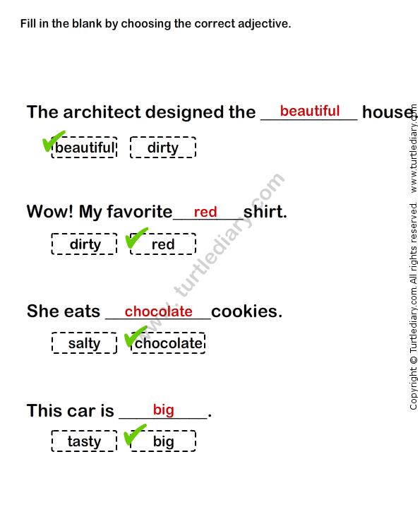 Describing Words Worksheet29 - esl-efl Worksheets - grade-1 ...