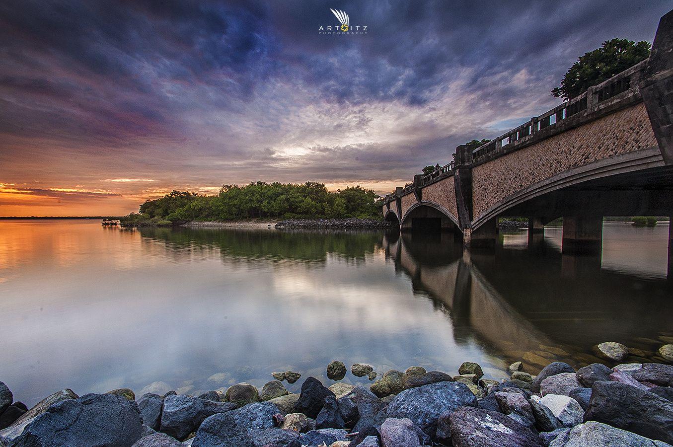 Serangan Bridge - Cloudy Sunset at Serangan,