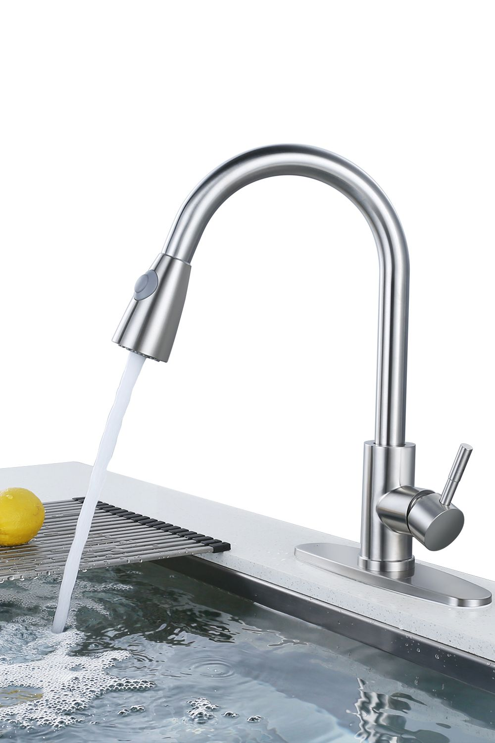Wowow Top Rated Pull Down Kitchen Faucets Single Hole Wowowfaucet In 2020 Kitchen Faucet Faucet Handles Stainless Steel Kitchen Faucet