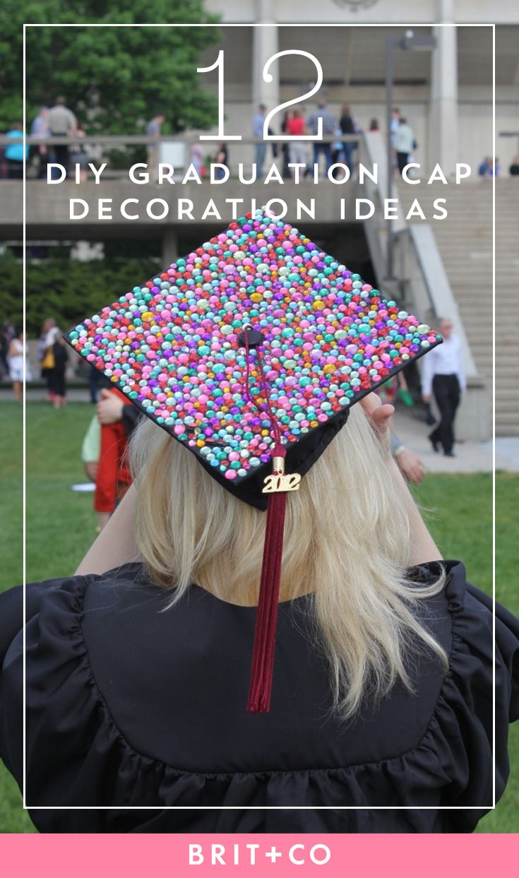 12 clever diy grad caps to rock for your graduation for Graduation decorations