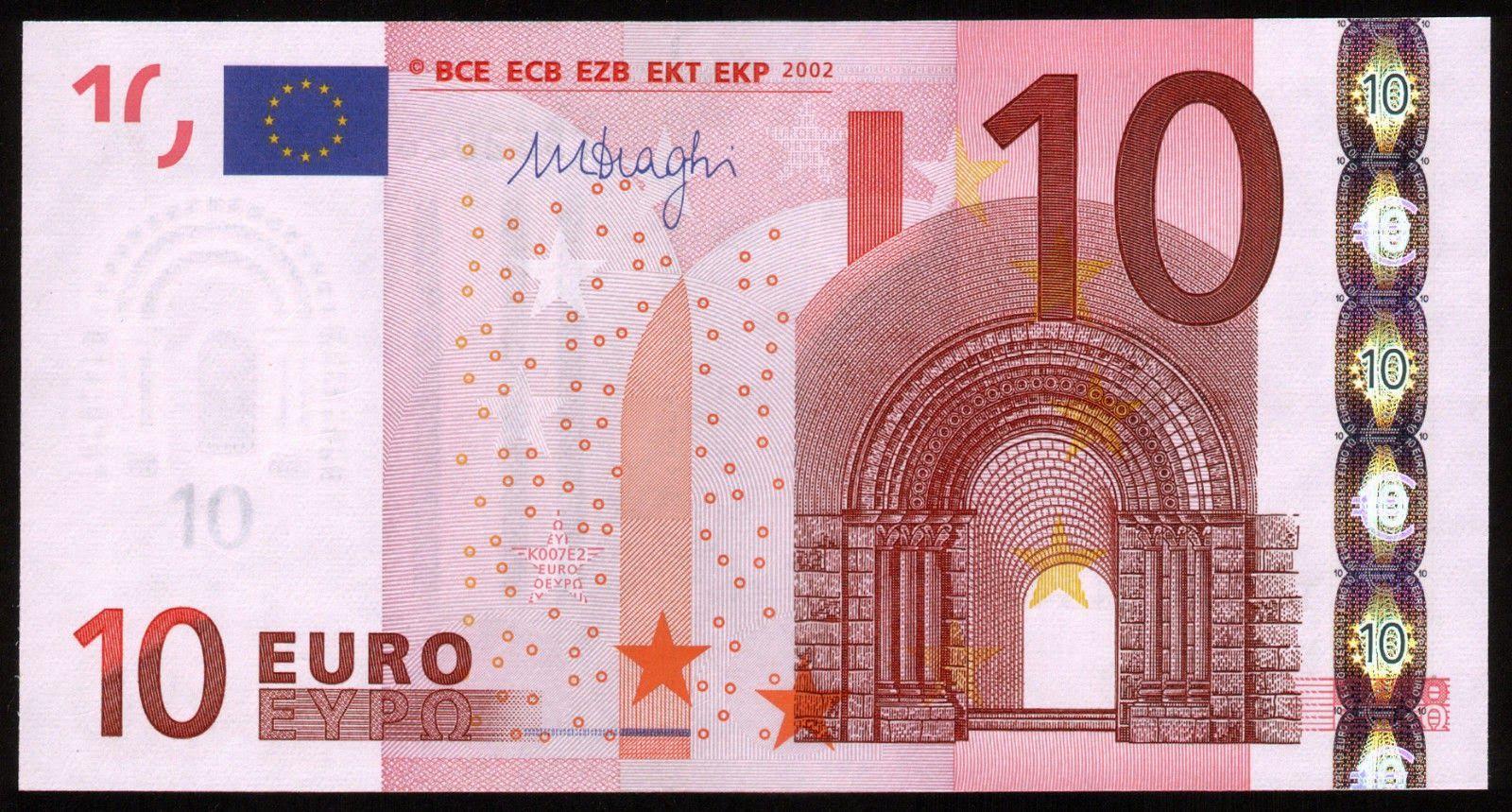 10 Euro Bank Notes Euro World Coins