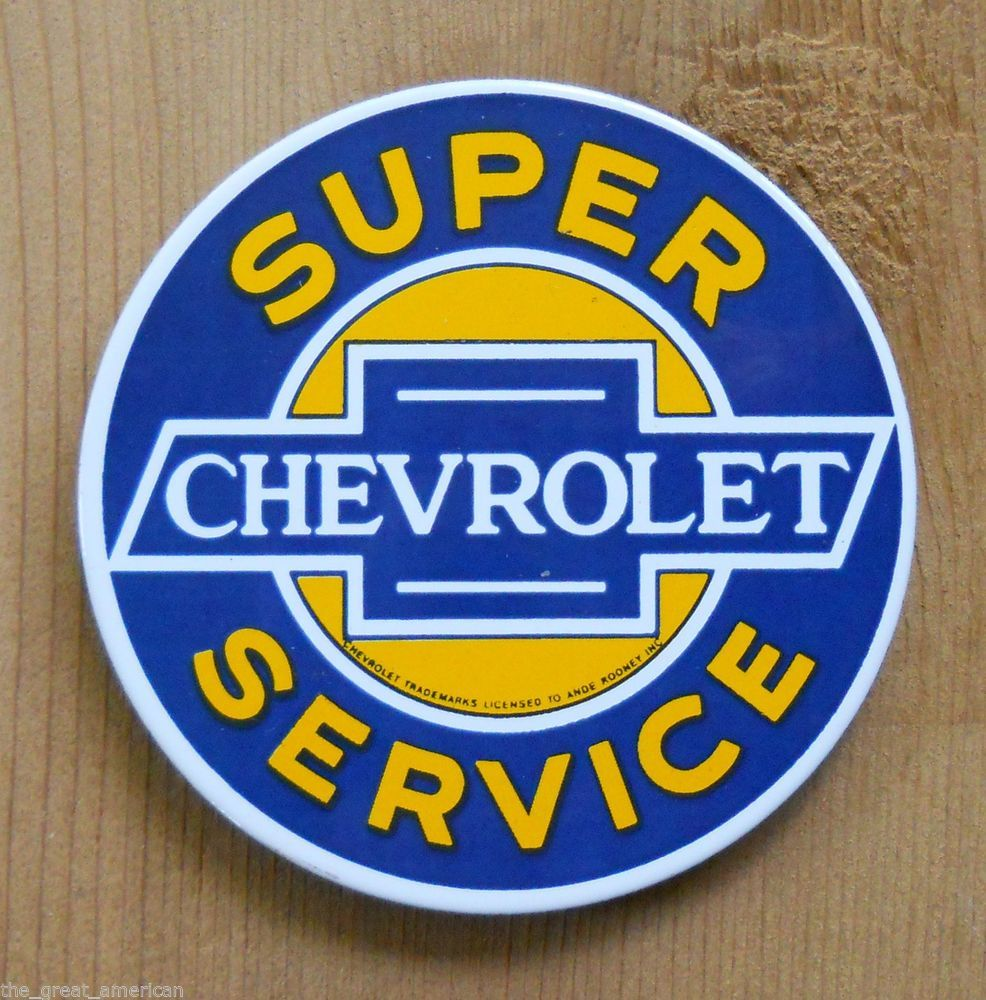 Ande Rooney Super Chevrolet Service Chevy Porcelain Steel Metal Magnet Made Usa Unique Wall Clocks Wall Clock Gift Retro Wall Clock