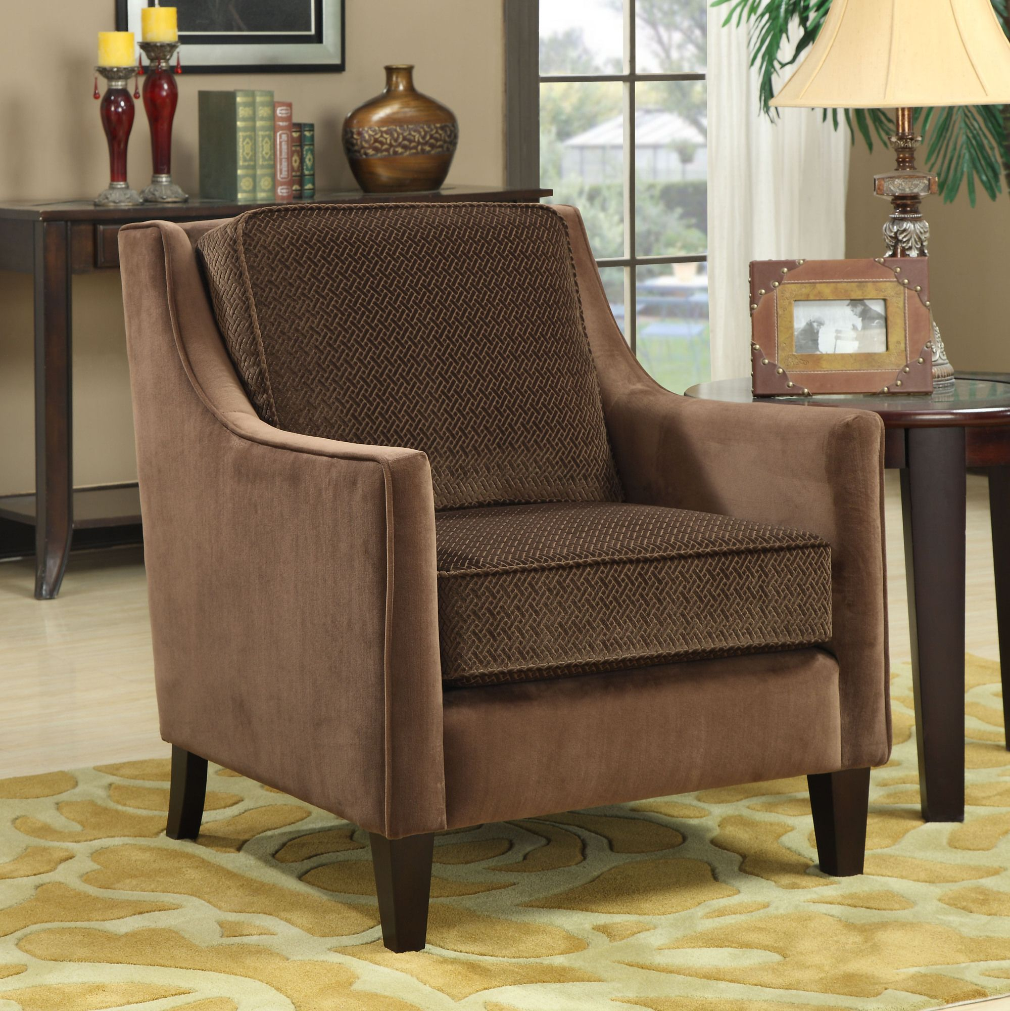 Wildon Home Contrasting Accent Chair In Cappuccino