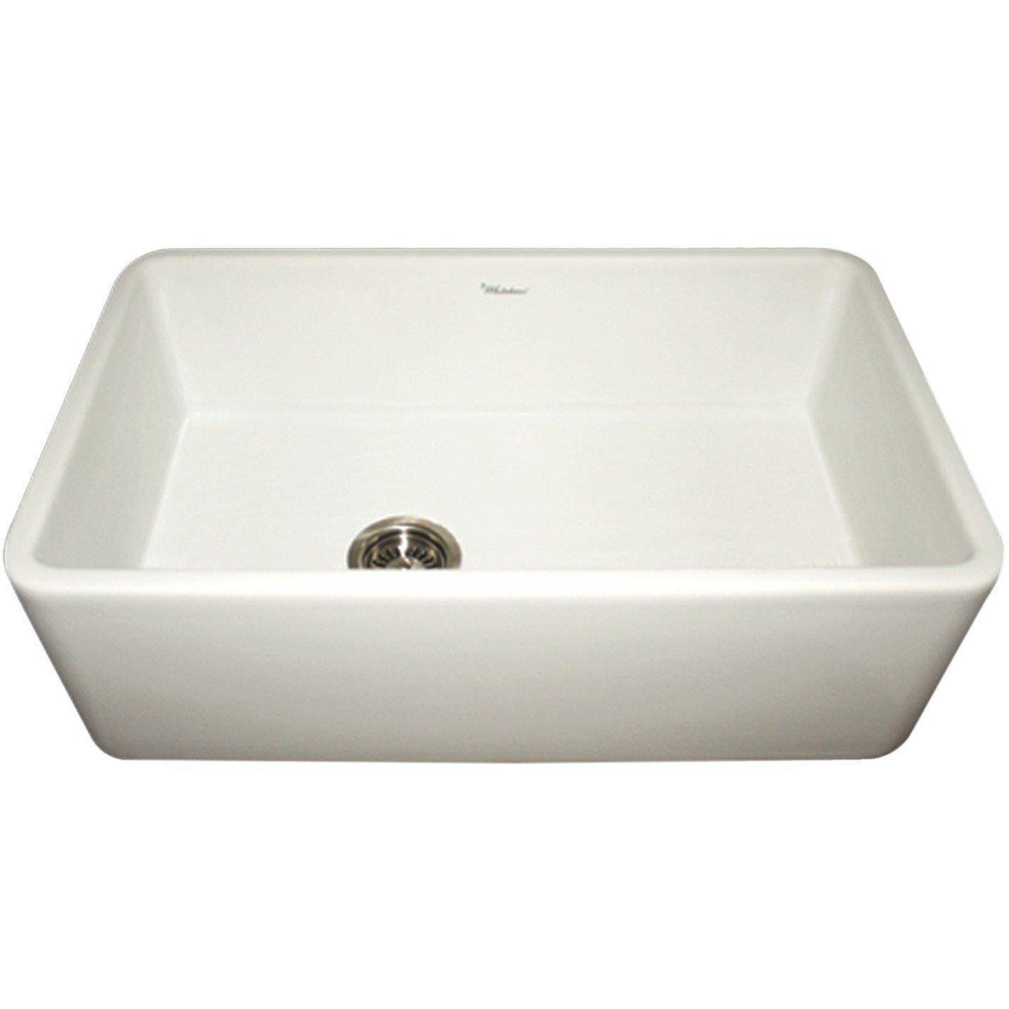 Whitehaus Wh3018 Duet 30 White Single Bowl Fireclay Reversible Farmhouse Sink Farmhouse Sink Kitchen Sink Single Bowl Sink