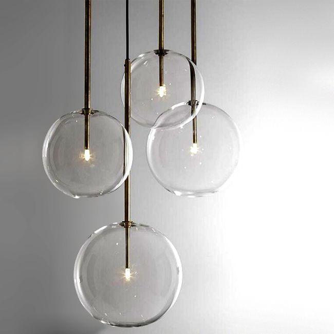 Modern Clear Glass Orb Pendant Lighting 12308 Vilagitas Lampak
