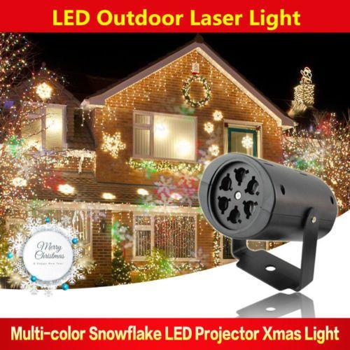 UK Outdoor Holiday Xmas Moving Snowflake Laser LED Landscape Light