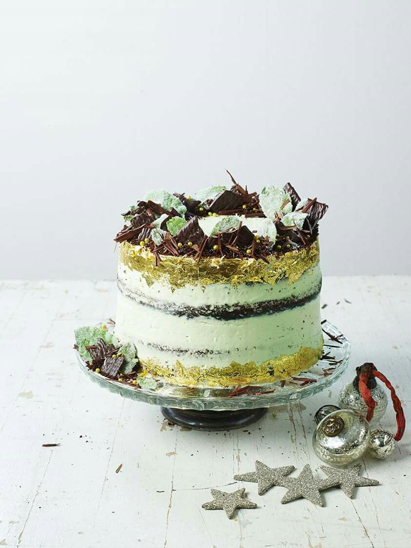 Jamie Oliver S After Eight Cake Mint Chocolate Cake Mint Cake Christmas Baking