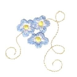 Forget Me Not Embroidery Design For Embellishing