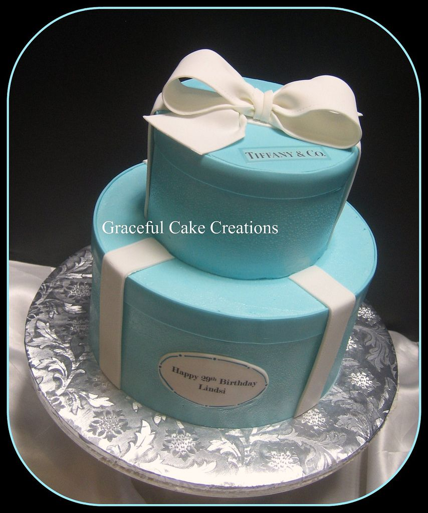 Pleasant Any And Co Cakes Tiffany And Co Birthday Cake With Images Funny Birthday Cards Online Fluifree Goldxyz