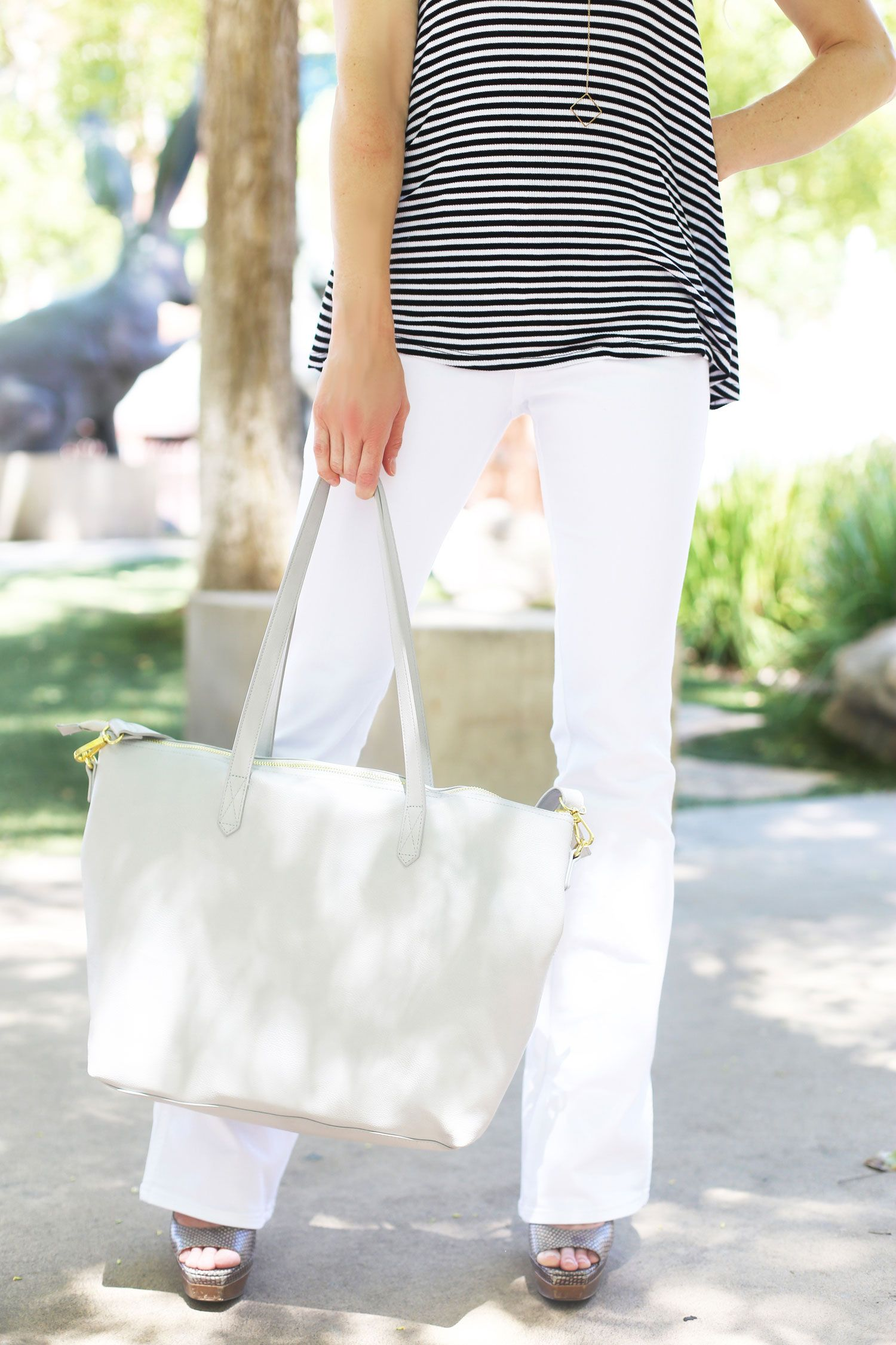 HOW TO STYLE WHITE JEANS FOR SUMMER | Elements of Ellis