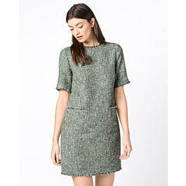 bouclékleid mit lurex in 2020  modestil kleider kleid arbeit